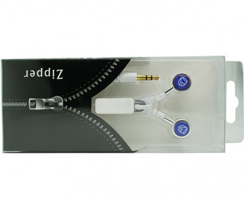 Zip earphones packaging
