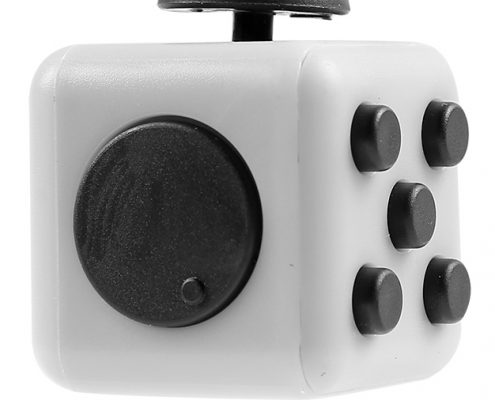 Press buttons and roller of fidget cube