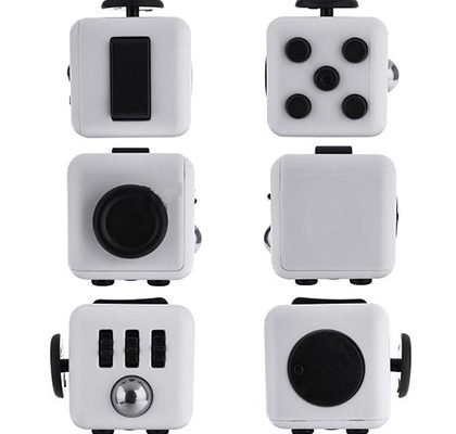 All sides Fidget cubes showing each side