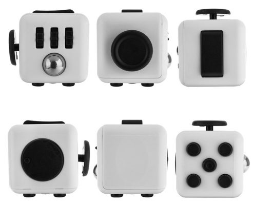 6 Fidget cubes showing each side