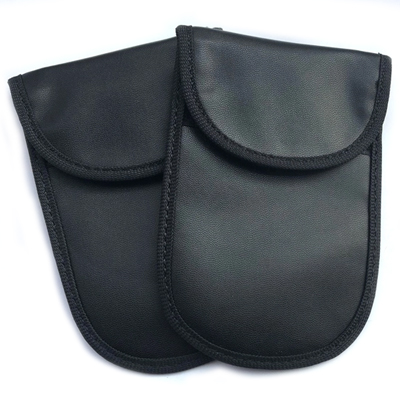 RFID blocking pouch for car keys closed