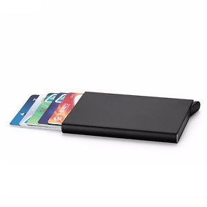 Metal credit card wallet black
