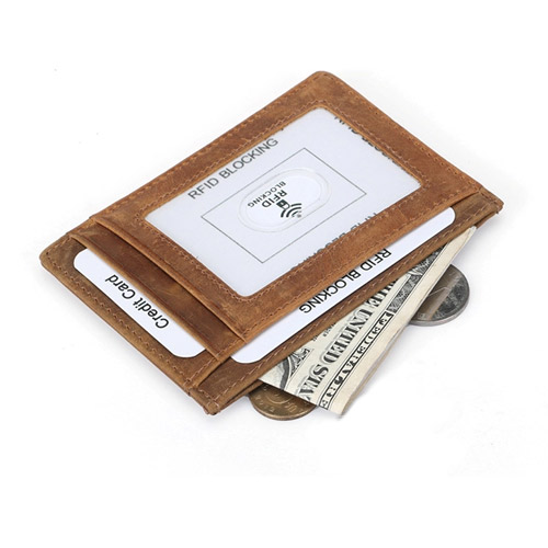 RFID Wallet light brown